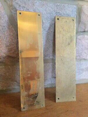 One Vintage Brass Finger Plate
