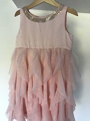 Bezauberndes Prinzessinnen Kleid 116 rosa Glitzer & Tüll