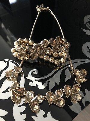 Stunning JASPER CONRAN Statement Piece Necklace & Bracelet Set Brand New