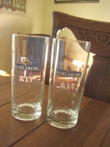 Karlsberg Alt vintage German 0.3 L Rastal Beer Glasses, set of 2