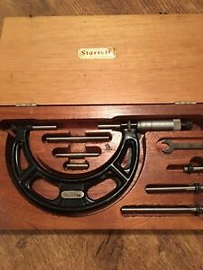 Starrett interchangeable anvil micrometer