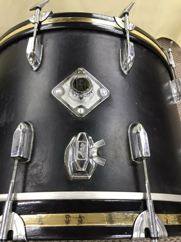Vintage Ludwig Base Black Cortex 22 X 16 Base Drum