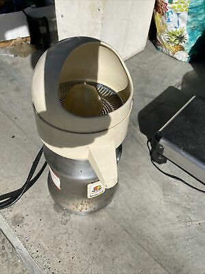 Sunkist Juice Extractor 8-r A94 Commercial Juicer Works Chrome Needs Polish