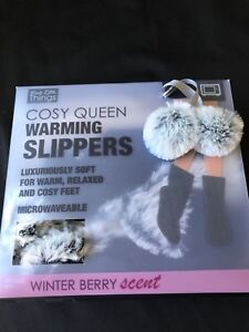 Br Cosy Soft Slippers To Keep Your Feet Warm In Winter Packs Are Heated The Microwave And Inserted Into Base Of Slipper
