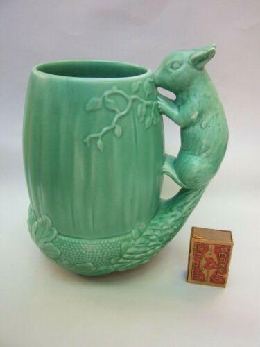 SylvaC Made in England Ceramic Acorn Green Jug Squirrel Handle Art Deco # 1115
