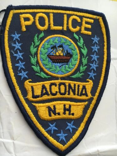 Laconia New Hampshire Vintage Police Patch Version 3