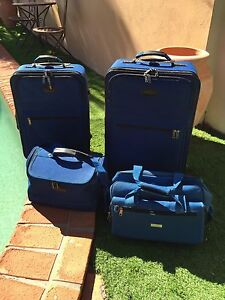 Lanza blue 4 piece luggage set Hope Island Gold Coast North Preview