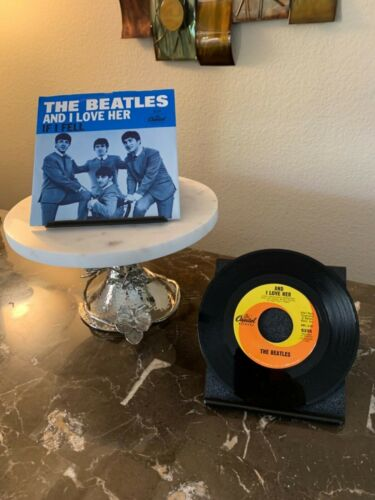 THE BEATLES 45 RPM (VG+), AND I LOVE HER/IF I FELL, PLUS PICTURE SLEEVE (VG+)