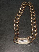 Peep toe gold colour toned sparkle bling necklace Baulkham Hills The Hills District Preview