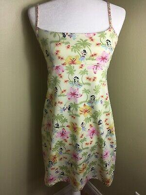 Dress Hawaiian Theme (Hawaiian Theme Sun Pool Dress Medium Tropical Hula Dancers)