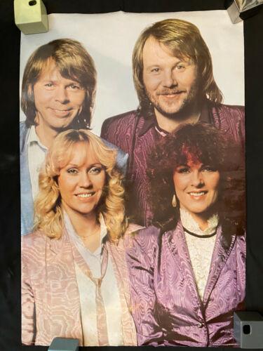 ABBA Dick Cavett era Scotland rolled poster 1981 Pace