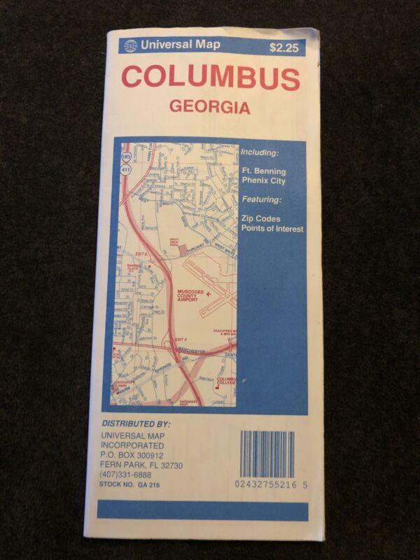 Columbus Georgia Road Map 1991