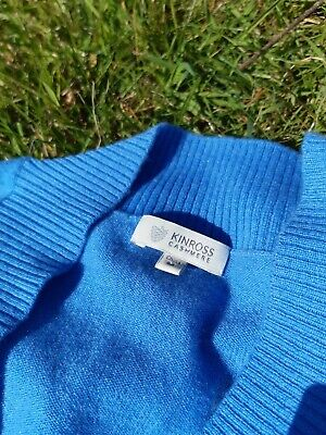 Kinross cashmere light blue shrug / cardigan - 100% cashmere size S / M