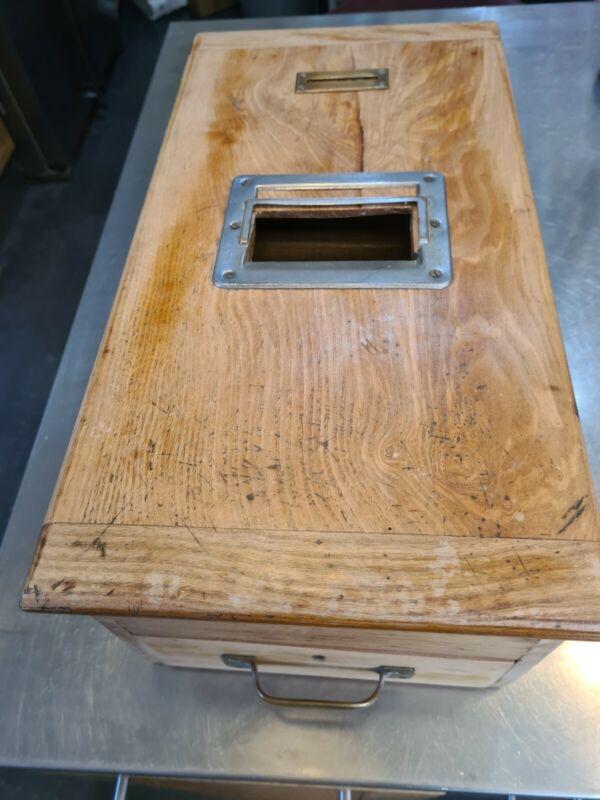 vintage wooden cash register