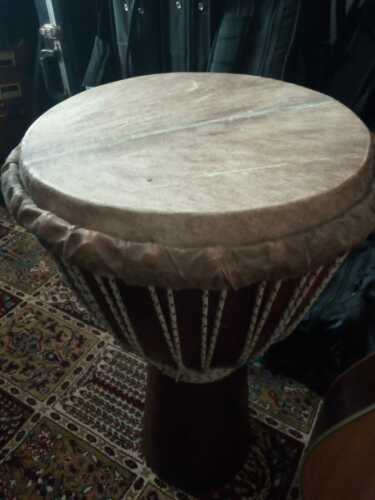 Large African Djembe with new skin