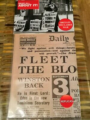 The Daily Express - Britain Declares War - Replica Newspaper - History  for sale  Cardiff