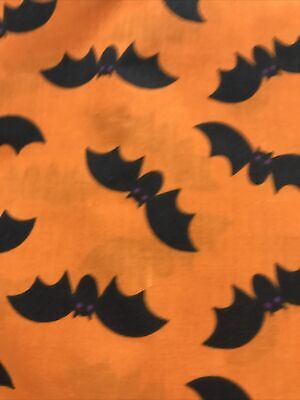 Fabric 1 yd Halloween Bats 100% cotton Quilting,crafting,sewing,