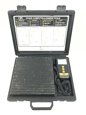 Cps Cc220 Compute-a-charge 220lb. Electronic Refrigerant Charging Recovery Scale