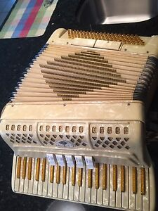 Beautiful women's piano accordion