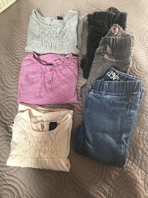 Gap Kids Lot Girls Size 2 Years Lot Leggings Shirts 6 Items