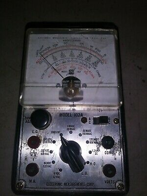 Vintage Electronic Measurements Corp Emc Model 102 Vacuum Tube Tester Radio Tv