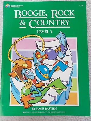 Bastien Boogie Rock Country Piano Level 3 Variety New