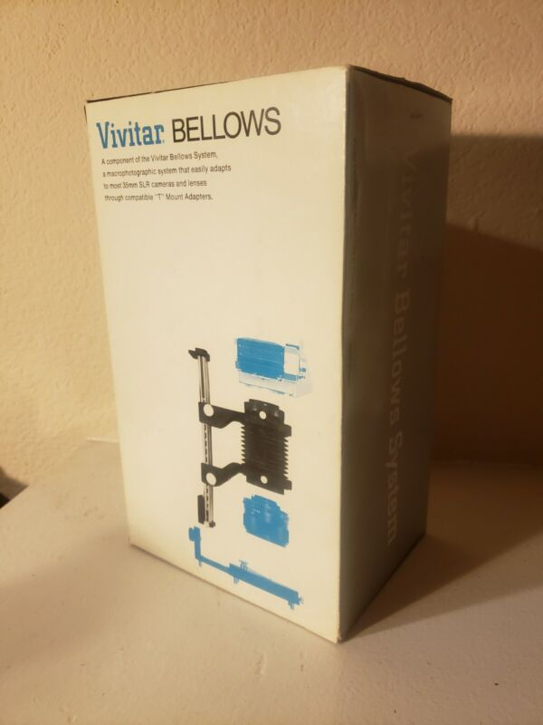 Vintage Vivitar Bellows Focusing Attachment and Box - 57-0307 - RAIL ONLY