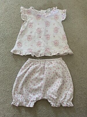 Kissy Kissy Baby Girls Summer Outfit Top Shorts White Pink 6-9 Months Harrods