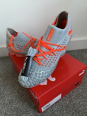 Puma Future 4.1 Netfit Men's Glacial Blue Energy/Red Football Boots Size 10.5
