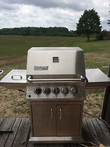 5 burner, natural gas, stainless steel BBQ