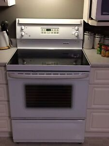 GE ceramic top electric range
