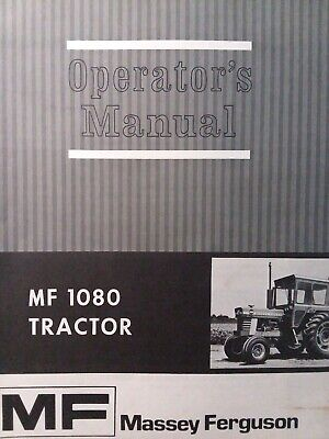 Massey Ferguson Mf 1080 Agricultural Farm Tractor Owners Maintenance Manual