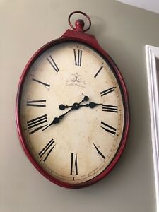 Large wall clock battery operated
