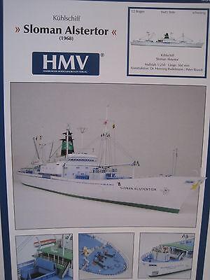 Sloman Alstertor Kühlschiff Schiff Kartonbausatz *NEU* Bastelbogen Kartonmodell