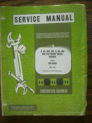 Ih Farmall International Diesel Engine Service Manual Td6 Td9 400 450 600 650