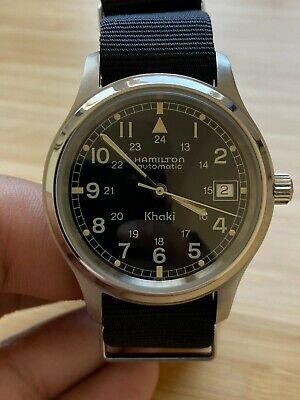 Hamilton Khaki Automatic 9721b Rare 36mm Sized Vintage Swiss Watch Nato Strap