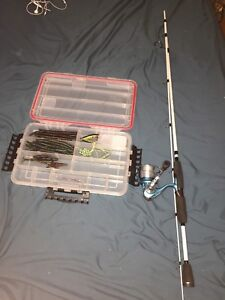 Pflueger lady trion fishing rod and water proof tackle box