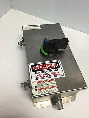 Eaton Cutler Hammer Dr3060uw Stainless Ss Enclosed Rotary Disconnect Switch 60a