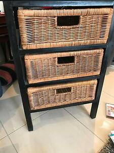 Two beside tables with wicker baskets Middleton Grange Liverpool Area Preview