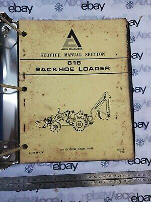 Allis-chalmers Service Manual 813 Backhoe Loader Ism18 1970