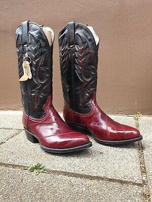Westernstiefel Cowboy Biker Boots Westernboots schwarz rot Gr. - Schwarze Western Stiefel