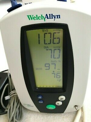 Welch Allyn 420 Spot Vital Signs Monitor 42ntb Spo2 Temp Nibp With Accessories