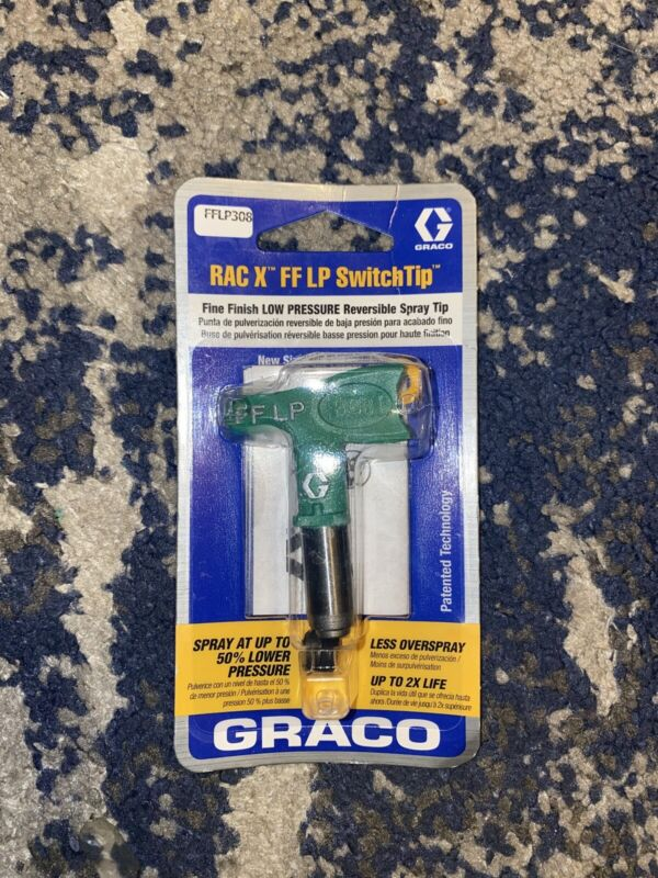 Graco RAC X FF LP  308 SwitchTip Fine Finish LOW PRESSURE Reversible Spray Tip