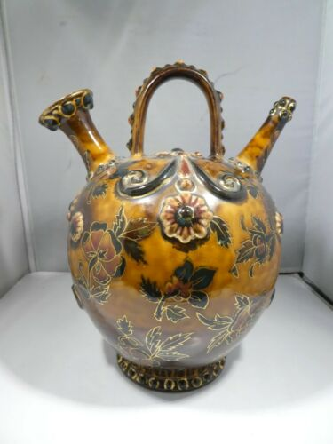 19TH CENTURY  EARLY ZSOLNAY POTTERY VESSEL