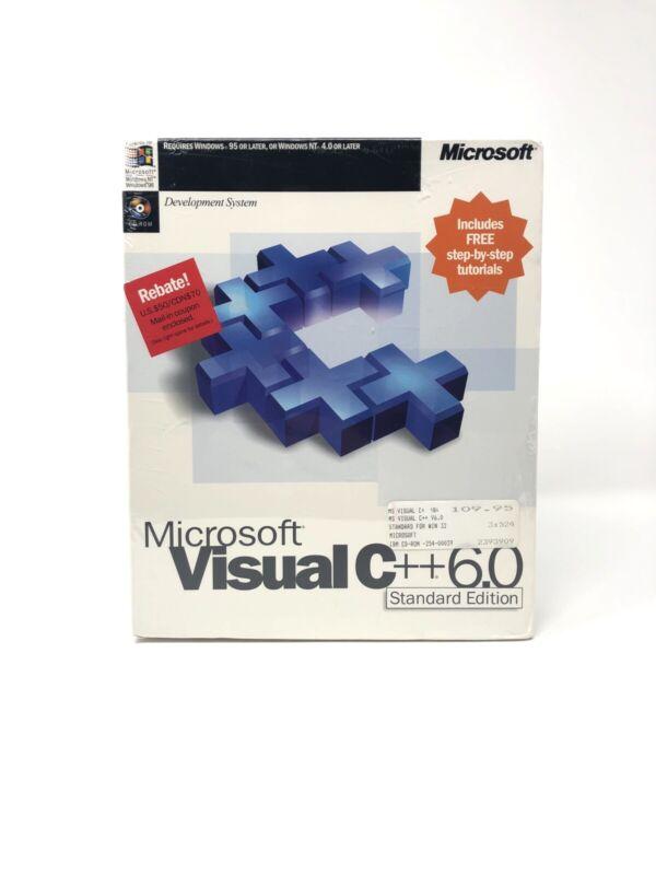 Microsoft Visual C++ Standard Edition Version 6.0 SEALED