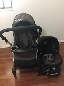 Stroller and car seat (peg perego uno stroller and car seat)
