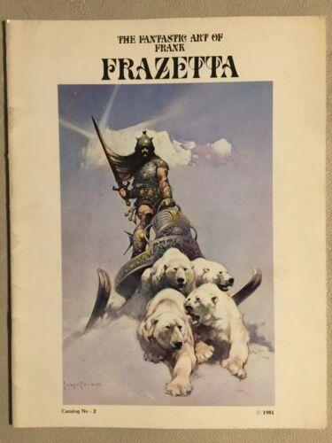 RARE! ORIG The Fantastic Art Of FRANK FRAZETTA Catalog #2 1981 Magazine Size