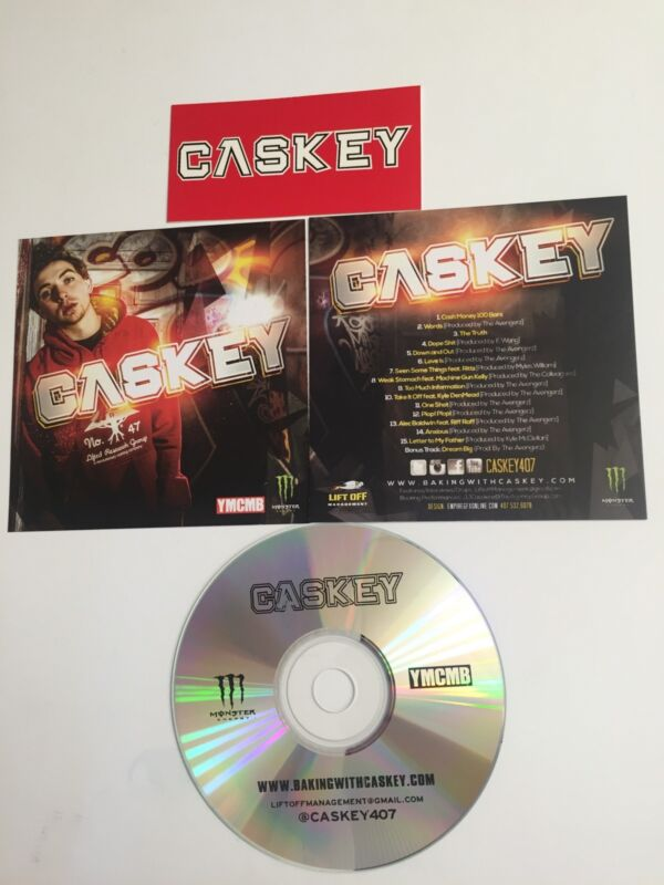 CASKEY PROMO CD Greatest Hits YMCMB featuring MGK Rittz Riff Raff w/ Sticker