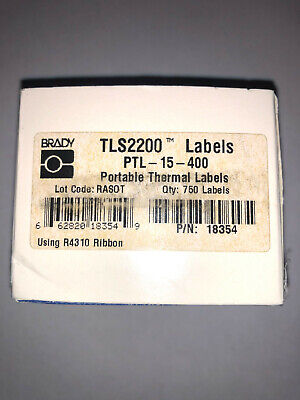 Brady Ptl-15-400 Labels 1.000 X 0.275 25.40 Mm X 6.98 Mm Tls2200