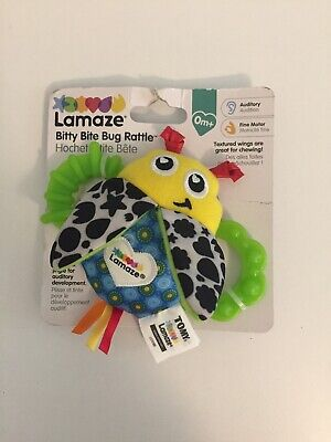 Lamaze Bitty Bite Bug Rattle 0+ Months Baby Crinkle Jingle Toy